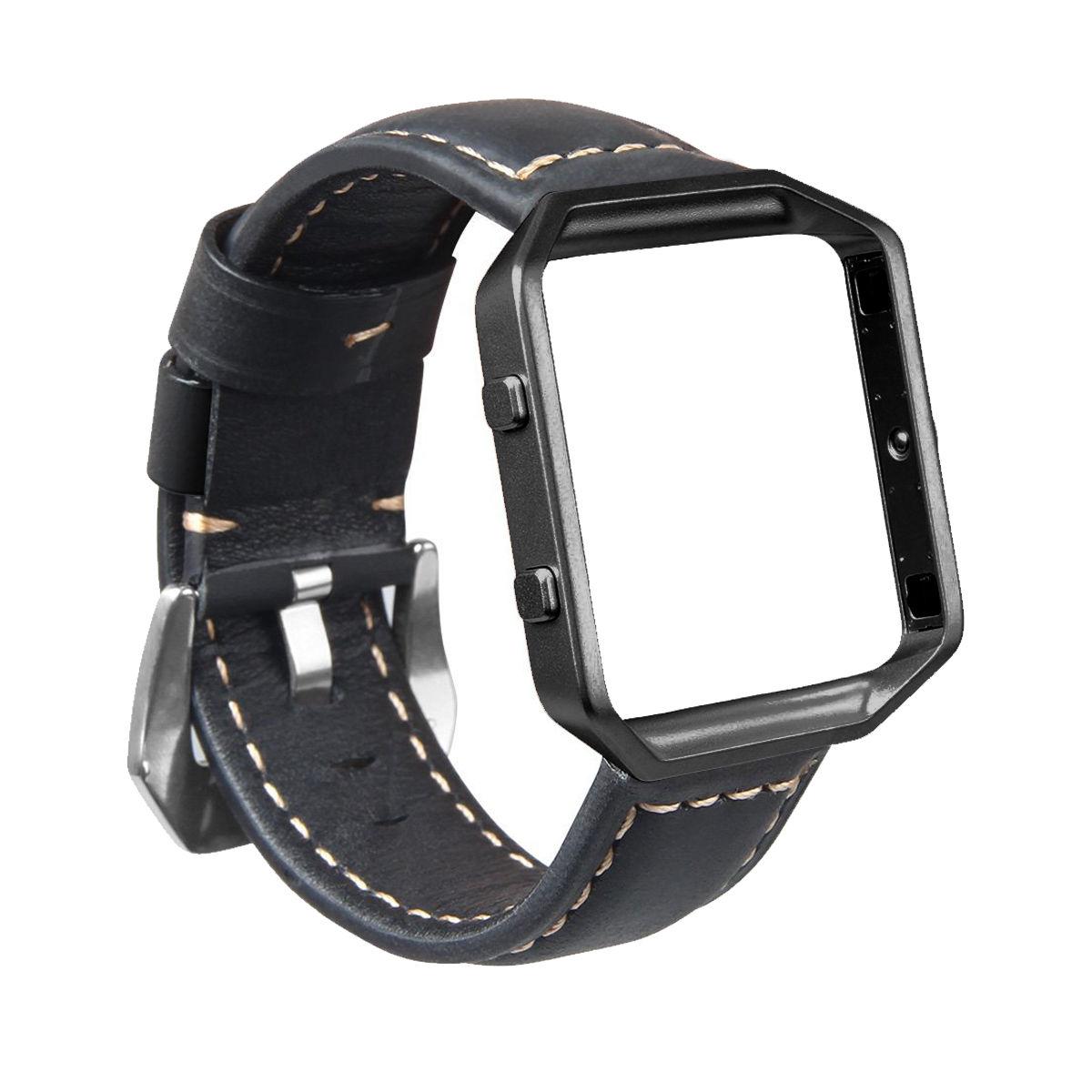 Fitbit Blaze Watch Band, Mignova Resto Genuine Leather Replacement Wrist band strap