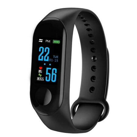 Waterproof Pedometer M3 Smart Bracelet Message Remind health Monitoring Watch - image 1 de 5