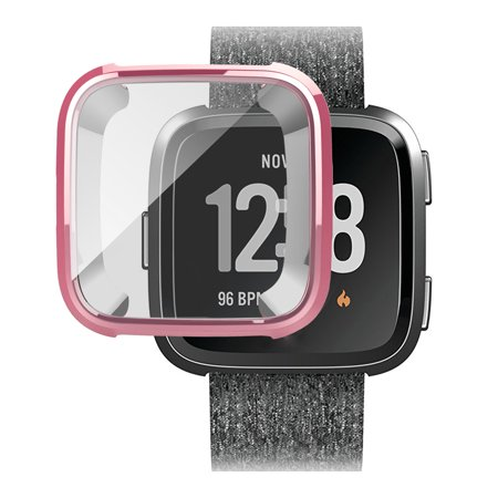 EEEKit Protective Case, Silicone TPU Protect Shell Screen Protector Frame Cover for Fitbit Versa Smart Watch Accessory (Phantom Protect Shell)
