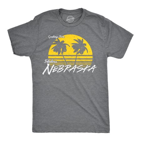 Nebraska Graphic - Mens Greetings From Nebraska Funny Sarcastic Beach State Midwest Tee For Guys
