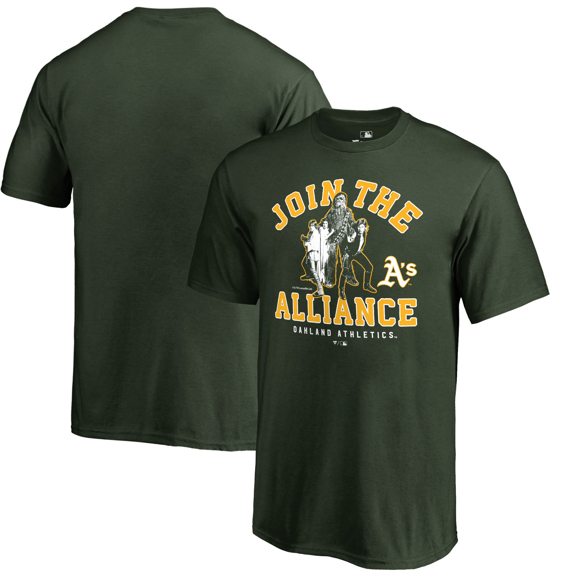 Oakland Athletics Fanatics Branded Youth MLB Star Wars Join The Alliance T-Shirt - Green