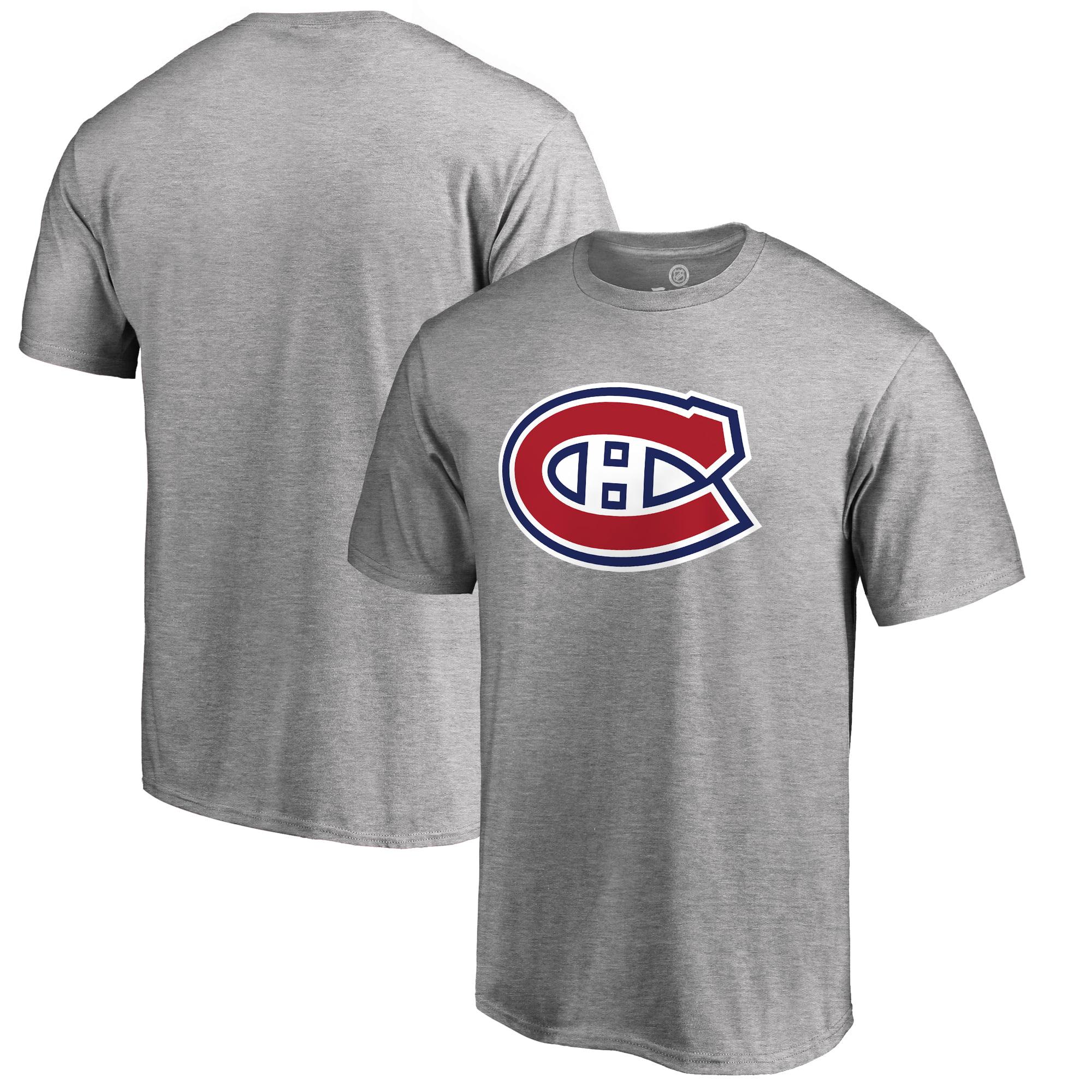 Montreal Canadiens Fanatics Branded Big & Tall Primary Logo T-Shirt - Ash