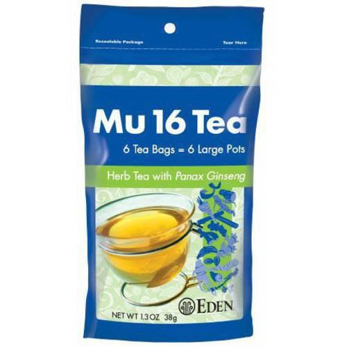 Eden Organic EDEN Mu #16 Tea (herb tea), Reclosable Pouch, 6 Count (Pack of 6)
