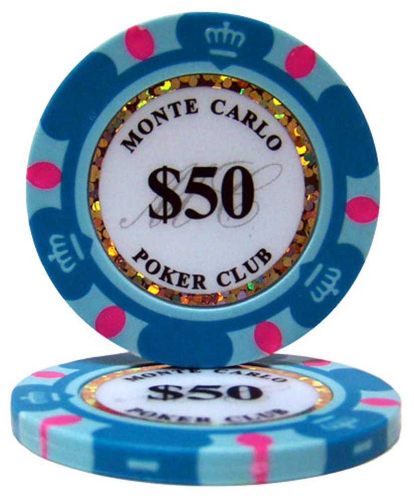"""Roll of 25 $50 Monte Carlo 14 Gram Poker Chips"" by BryBelly"