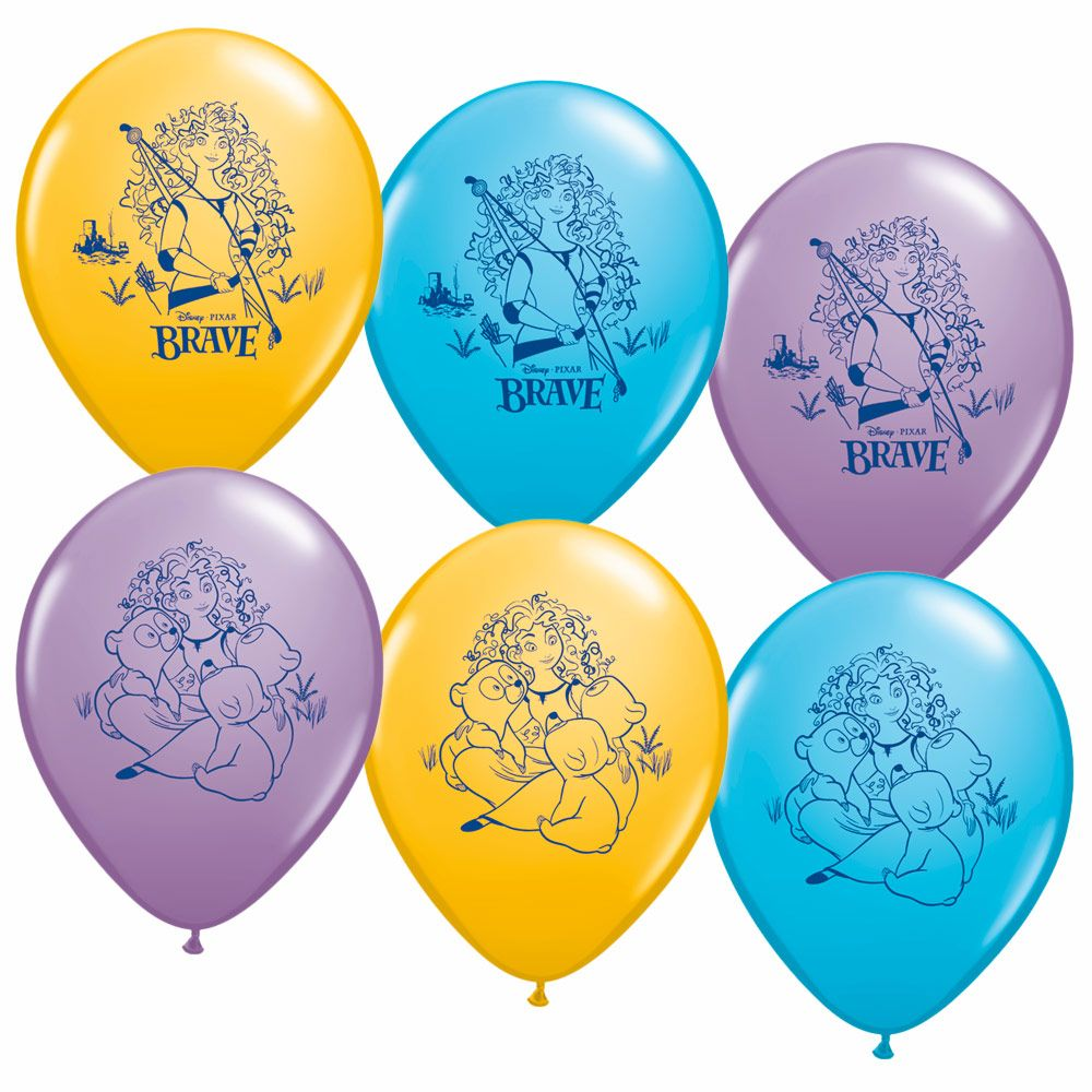 "Brave 12"" Latex Balloons (6 Pack) - Party Supplies"
