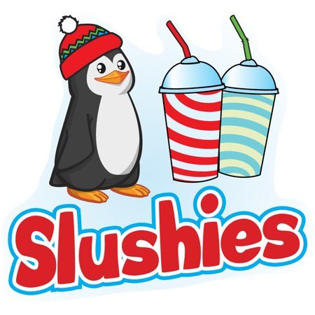 slushies Concession Decal sign cart trailer stand sticker equipment