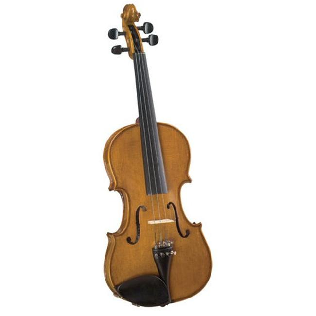 Saga SV-200 . 75 Cremona Student . 75 Size Violin Outfit with Flamed Maple Back and Sides - Translucent Brown
