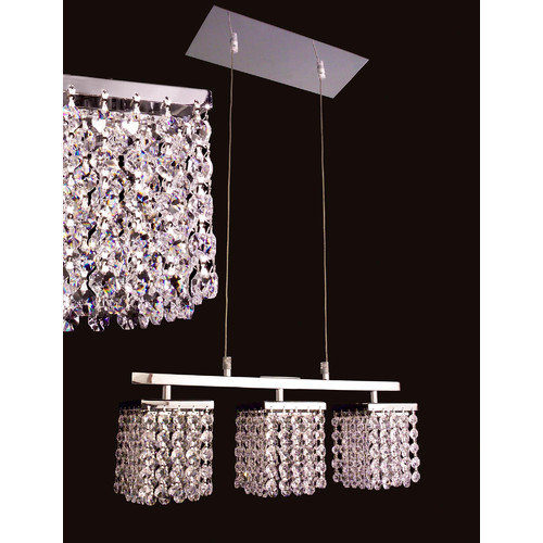 Classic Lighting Bedazzle 3 Light  Linear Chandelier