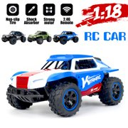 KYAMRC 4PCS/Set All-Terrain Remote Control Monster Truck Toy Vehicle, 1:18 Scale