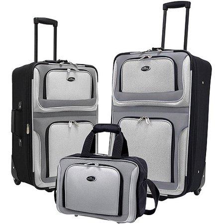 U S  Traveler New Yorker 3 Piece Luggage Set