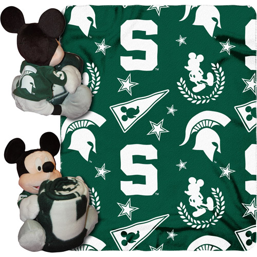 "Disney Ncaa Hugger Pillow And 40"" X 50"""