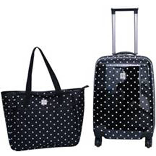 Protege 2-Piece Polka Dot Hardside Luggage Set - Walmart.com