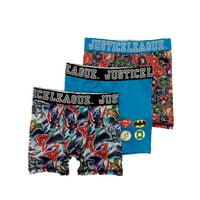 Boys 3pc Justice League Boxer Briefs Superman & Batman Boxer Shorts Set