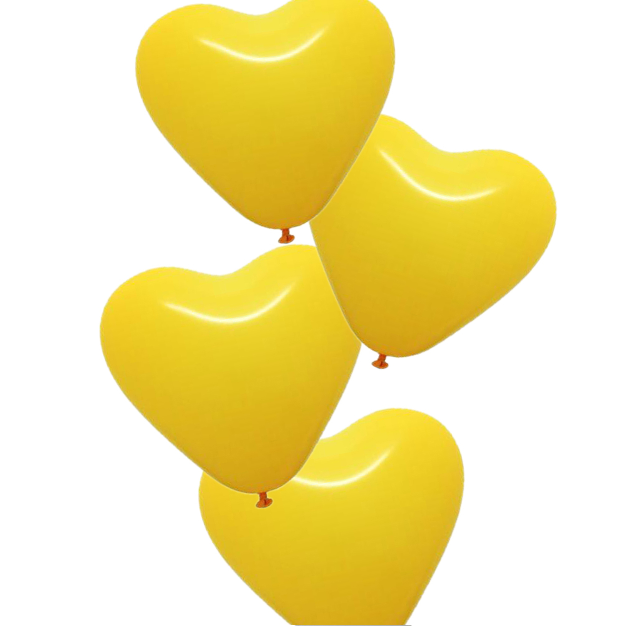 100pcs, The Elixir Party Heart Balloons 100% Latex Helium Quality Heart Shape Balloon for Party Balloons, Yellow