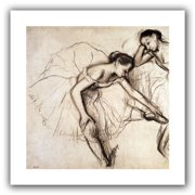 ArtWall Two Dancers Resting' by Edgar Degas Painting Print on Rolled Canvas