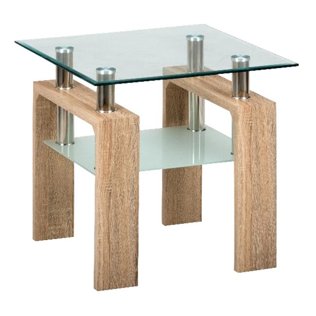 Jofran 198-3G Compass End Table- Tempered Glass Top Only by Jofran