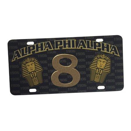 Alpha Phi Alpha Line Number  8 License Plate Car Tag