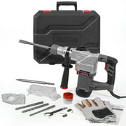 """XtremepowerUS 1180W 1-1/4"""" SDS-Plus Deluxe Rotary Hammer Drilling Chisels & Drill Bits Set with Case"""