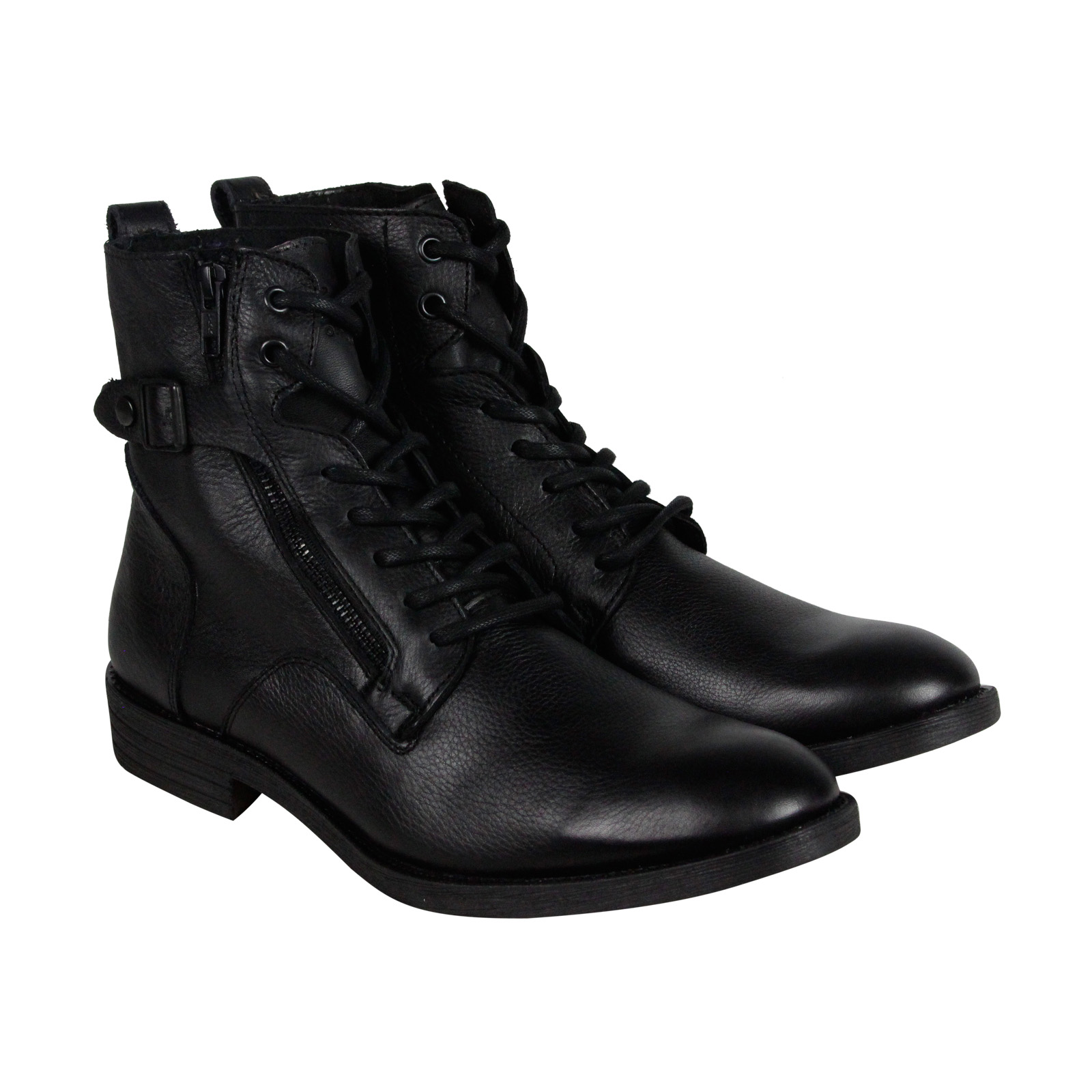 GBX , GBX Mens Trust Leather Boots Combat Military Style