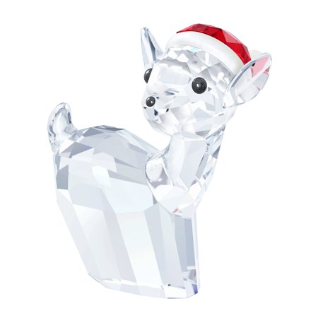 Swarovski Christmas Crystal Figurine DOE WITH SANTA'S HAT #5135853 ()