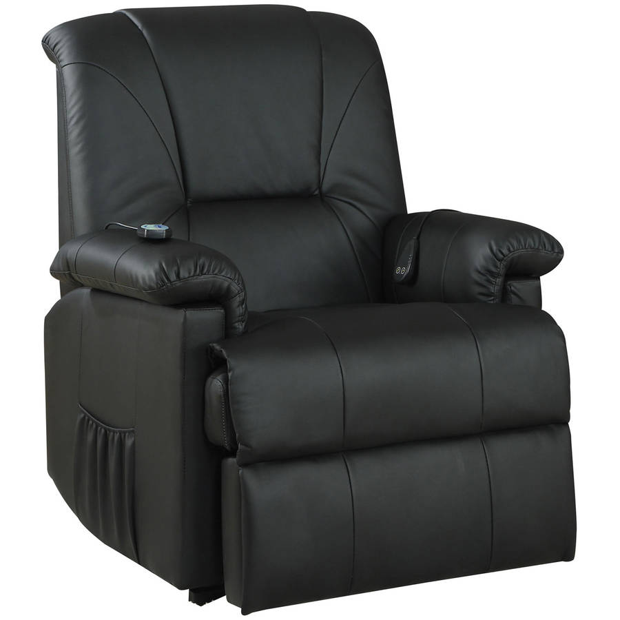 Reseda Faux Leather Recliner with Power Lift and Massage