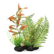 Aquarium Tank Plastic Artificial Plant Grass Driftwood Decoration 7.9x2.7x25inch