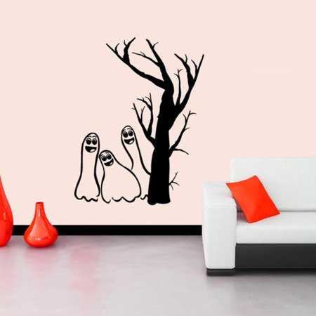 Halloween Devils Background Decorated Living Room Bedroom Wall Stickers BK](Decorate Your Living Room Halloween)