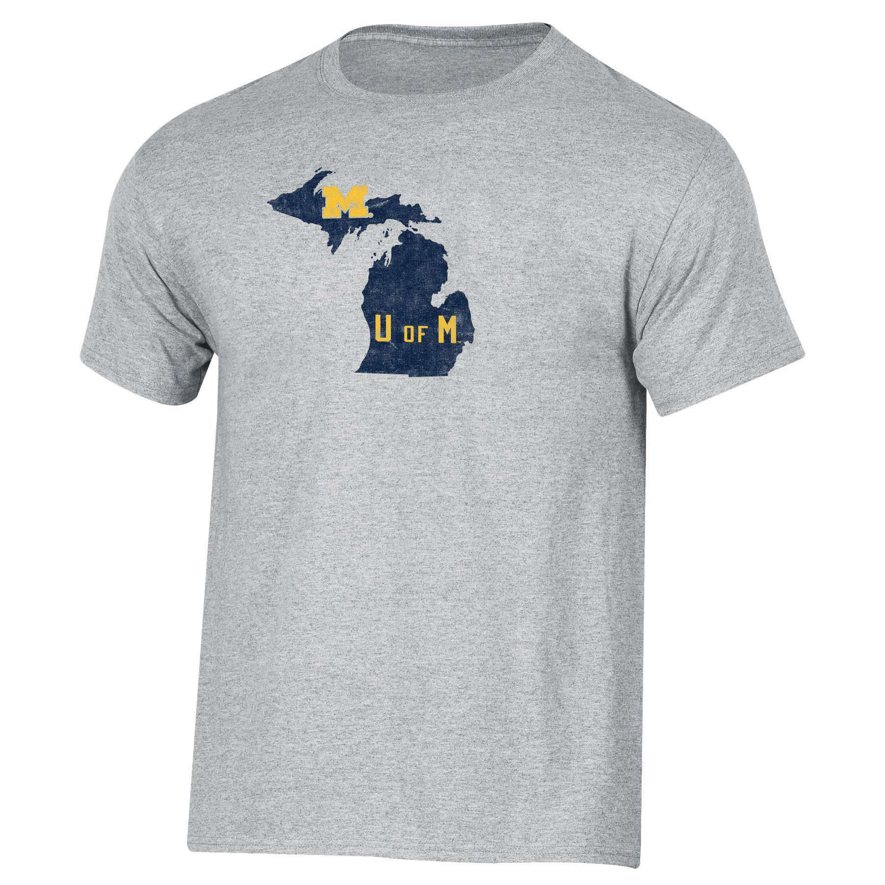 Men's Russell Heathered Gray Michigan Wolverines Inner-State T-Shirt