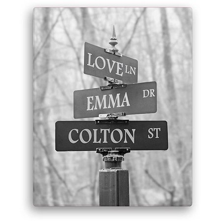 Personalized Signs Of Love 11  X 14  Canvas  Black And White