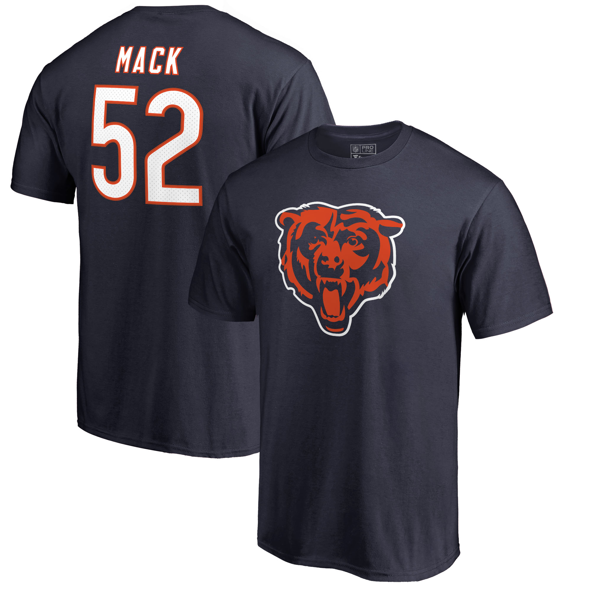 Khalil Mack Chicago Bears NFL Pro Line by Fanatics Branded Icon Name & Number T-Shirt - Navy