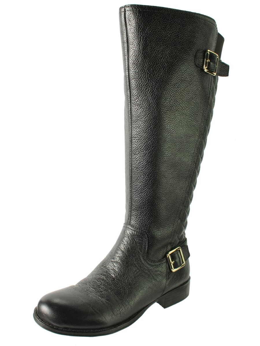 Naturalizer Womens Jalyn Wide Calf Leather Riding Boots by Naturalizer