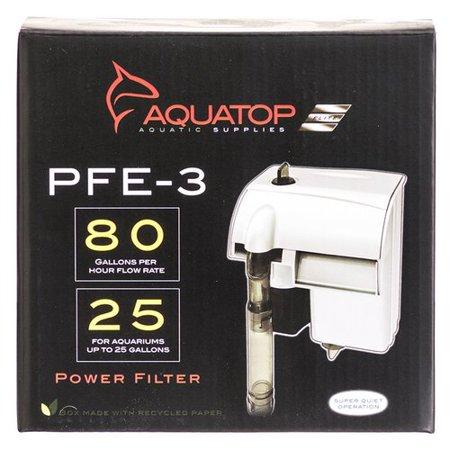 Aquatop Aquatic Supplies-Forza Power Filter- Black 25 Gallon