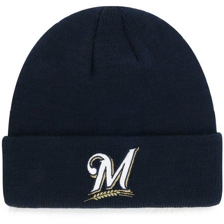 Youth Navy Milwaukee Brewers Cuffed Knit Hat - OSFA Single Soft Heat Brewer