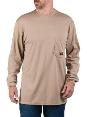 Walls Industries Men's Knit Long Sleeve Crew Shirt