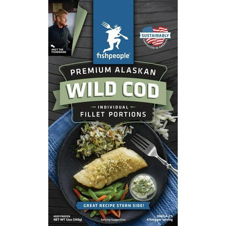 Fishpeople premium alaskan wild cod individual fillet for Cod fish walmart