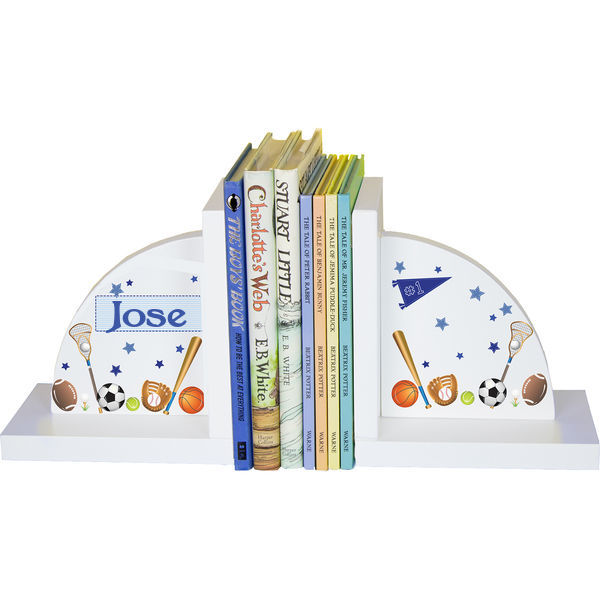 Personalized Sports Childrens Bookends