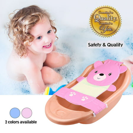 Baby Bathtub Stand - Hilitand Adjustable Thicken Newborn Baby Bath Seat,Yosoo Adjustable Thicken Newborn Baby Bath Seat Support Net Bathtub Sling Shower Mesh Pink Bear
