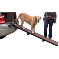 Pet Gear Tri-Fold Ramp 71 inch Pet Ramp supports 200LBS,Chocolate, Full Length