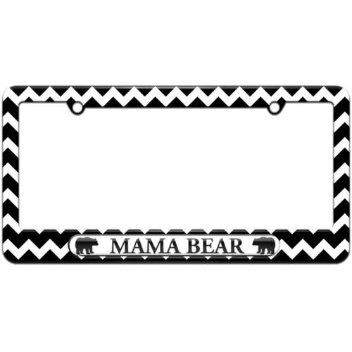 Mama Bear License Plate Tag Frame, Multiple Colors