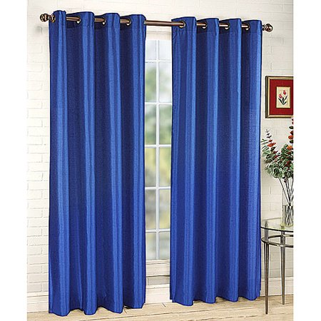 Belle maison tribecca faux silk grommet window panel for Decoration maison walmart