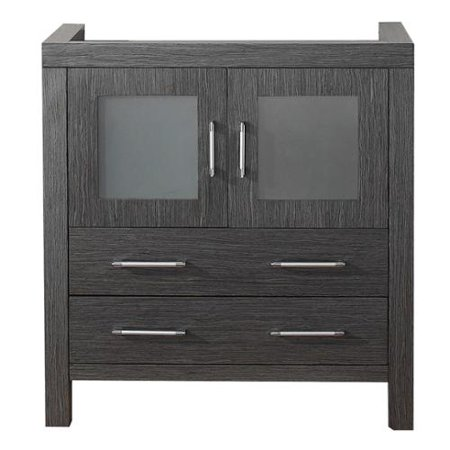 Virtu usa dior 32 inch zebra grey single sink cabinet only - Bathroom vanities 32 inches wide ...