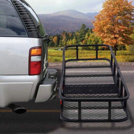 - Goplus Folding Cargo Carrier Luggage Rack Hauler Truck or Car Hitch 2'' Receiver