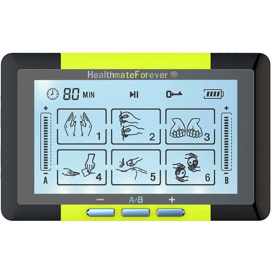 HealthmateForever TS6ABH Touch Screen Tens Unit & Muscle Stimulator (Yellow)