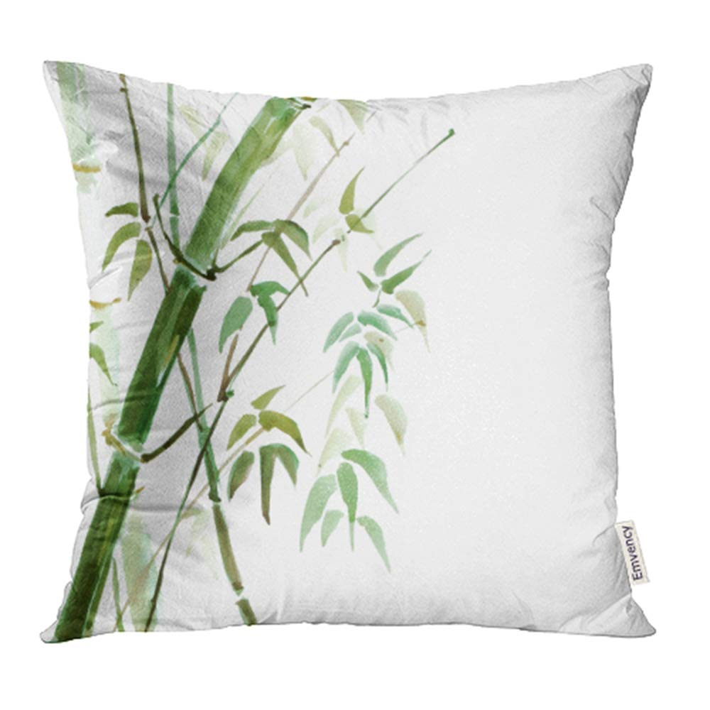 Ywota Green Landscape Bamboo Grove Watercolor Zen Grass