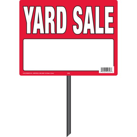 (Yard Sale Sign with Stake)