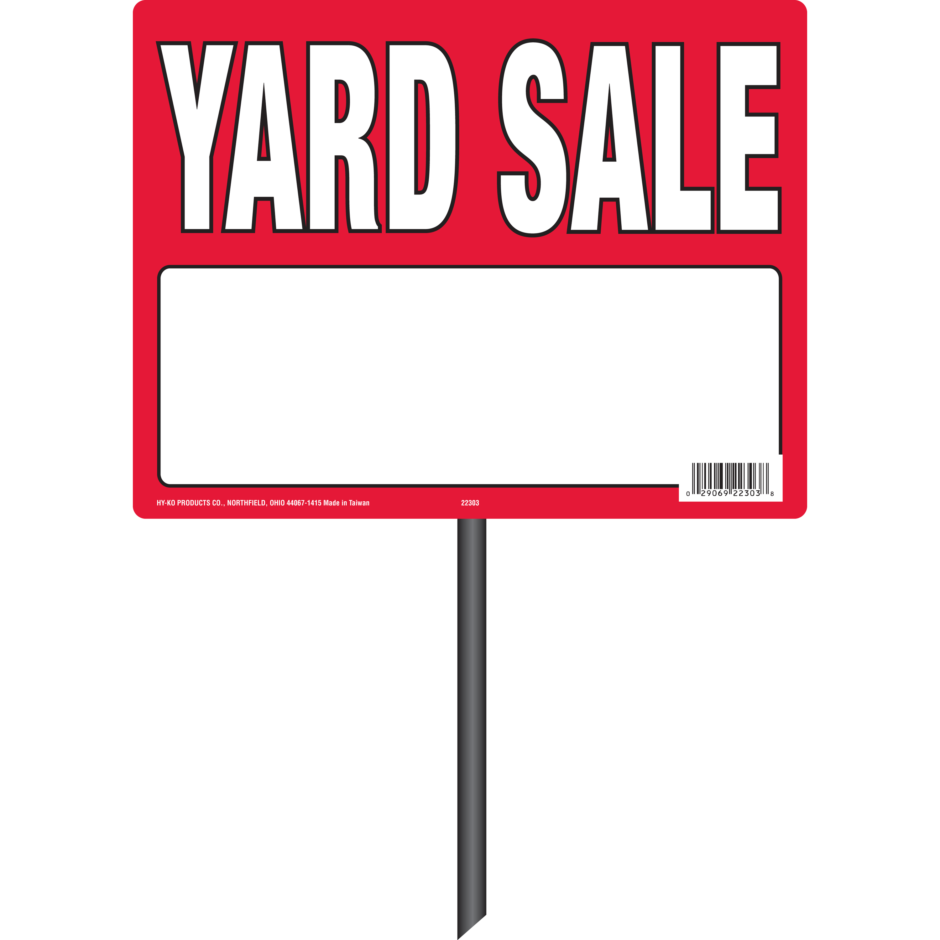 Yard Sale Sign with Stake