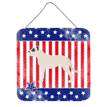 USA Patriotic Dogo Argentino Wall or Door Hanging