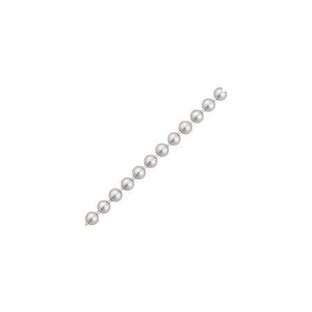 Sterling Silver Beaded Ball Chain Necklace 24