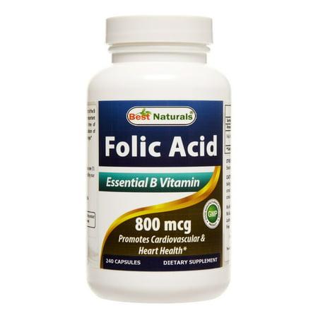 Best Naturals Folic Acid 800 mcg, 240 Ct (Best Prenatal Pills To Take)
