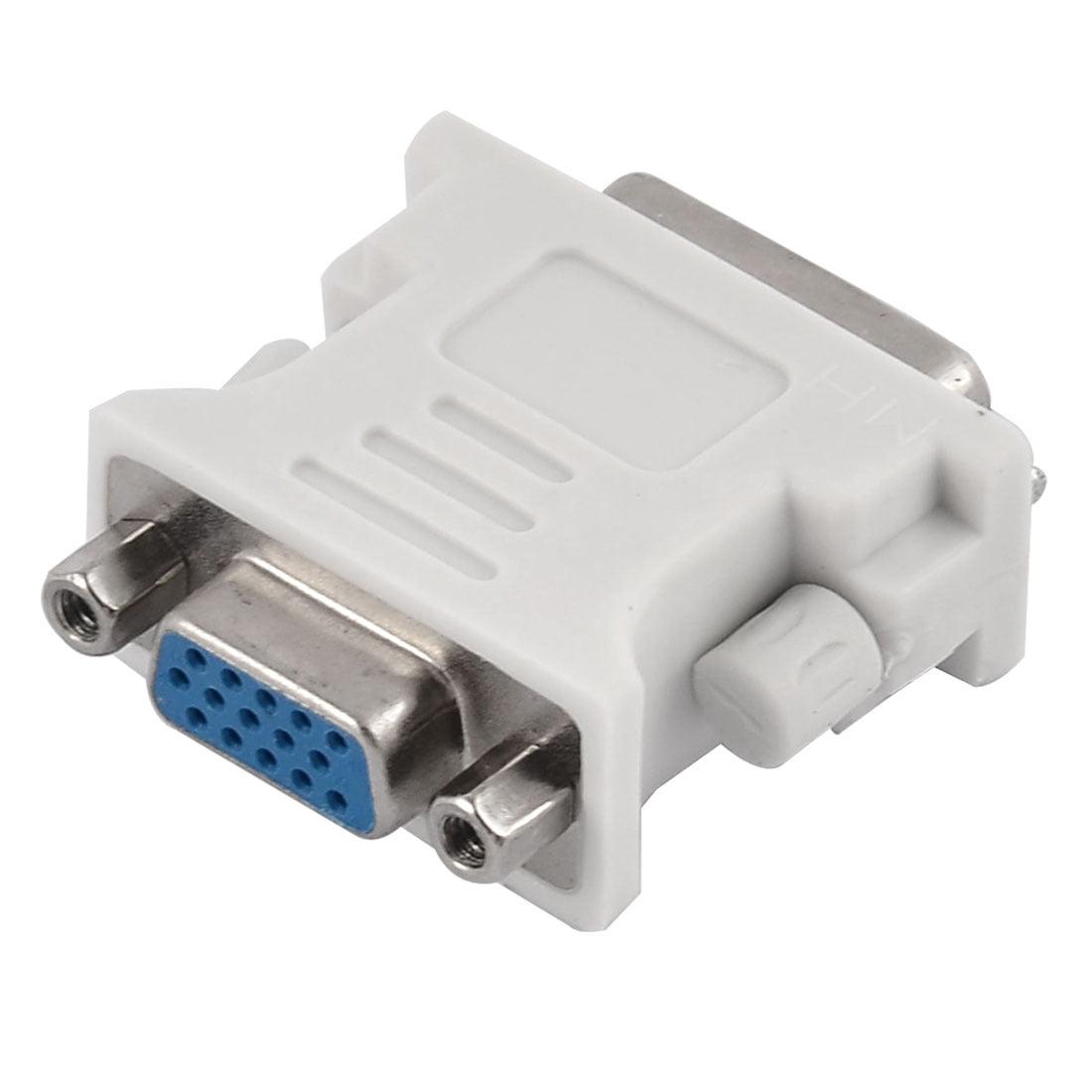 Dvi I 24 5 Pin Male To Vga 15 Female Converter Convertor Adapter Konventer White